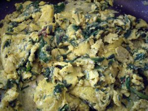 Herbed Eggs and Greens Recipe