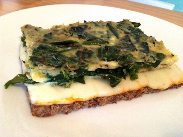 Open-Faced Omelet Sandwich (They Call Me Oystergirl)