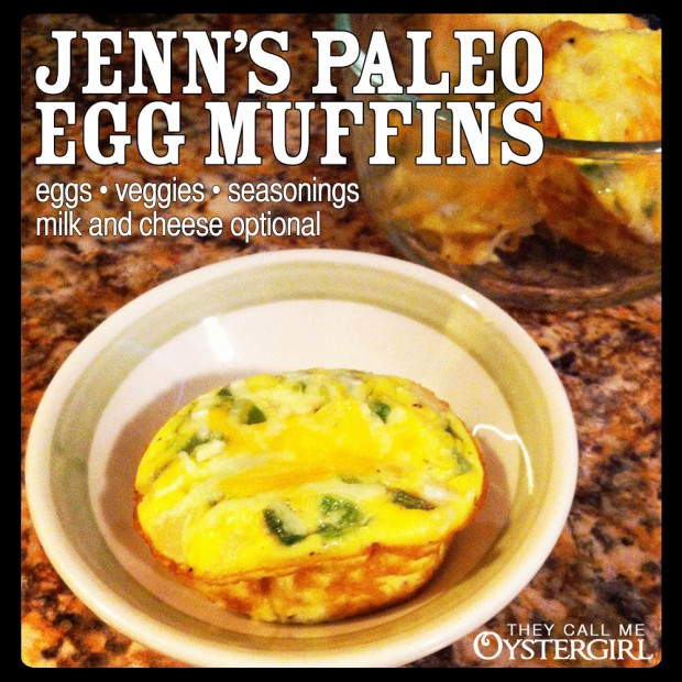 Jenn's Paleo Egg Muffins (They Call Me Oystergirl)