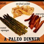 A Paleo Dinner: Stir-Fried Cod, Roasted Asparagus, and Sweet Potato Fries | They Call Me Oystergirl