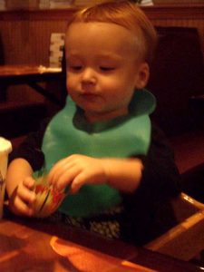 Baby-Led Weaning: eating ikura