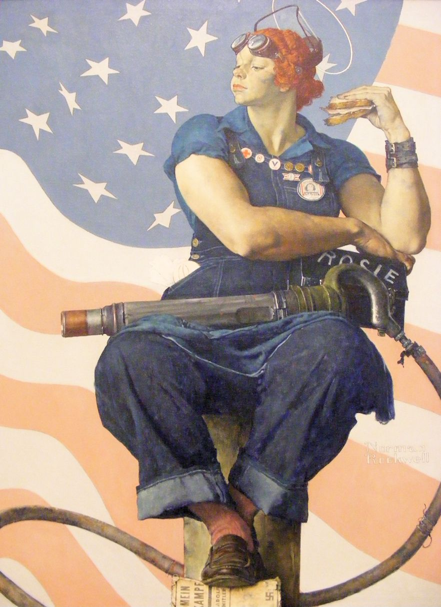 Norman Rockwell - Rosie the Riveter