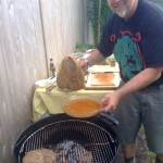 Patrick of New England Grass Fed on the grill