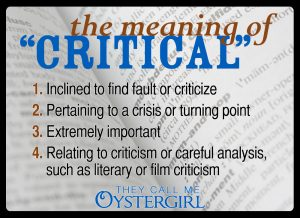 "The Meaning of ""Critical"" 