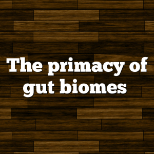 The primacy of gut biomes